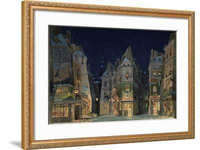Set design for Act 2 of La Bohème, Opera by Giacomo Puccini-Adolfo Hohenstein-Framed Giclee Print