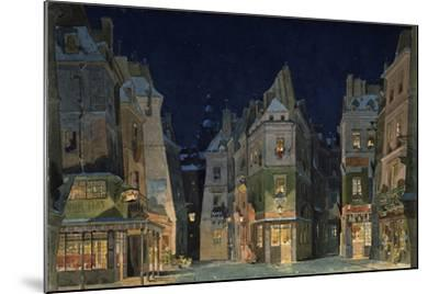 Set design for Act 2 of La Bohème, Opera by Giacomo Puccini-Adolfo Hohenstein-Mounted Giclee Print