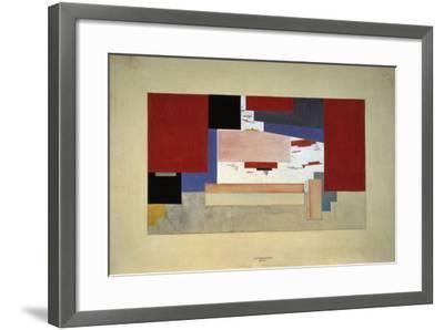 Suprematism (Sketch for a Curtain), 1919-El Lissitzky-Framed Giclee Print