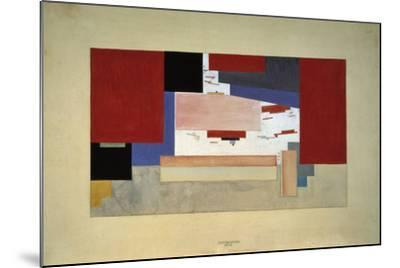 Suprematism (Sketch for a Curtain), 1919-El Lissitzky-Mounted Giclee Print