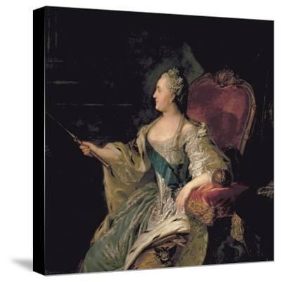 Portrait of Catherine The Great, 1763-Fedor Stepanovich Rokotov-Stretched Canvas Print