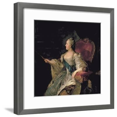 Portrait of Catherine The Great, 1763-Fedor Stepanovich Rokotov-Framed Giclee Print