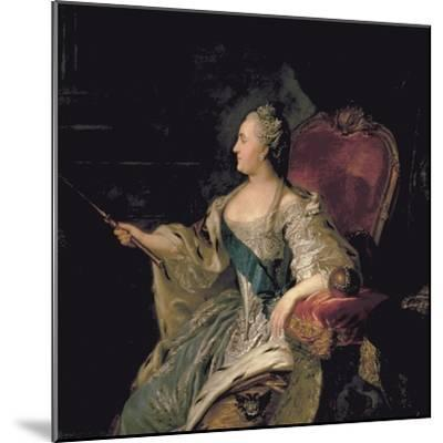Portrait of Catherine The Great, 1763-Fedor Stepanovich Rokotov-Mounted Giclee Print