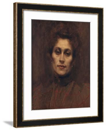 Portrait of a Lady, 1894-Eugene Carriere-Framed Giclee Print