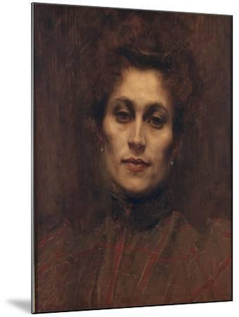 Portrait of a Lady, 1894-Eugene Carriere-Mounted Giclee Print