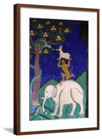 Thikse Monastery, Wall Painting, Ladakh, Himalaya--Framed Giclee Print