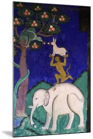 Thikse Monastery, Wall Painting, Ladakh, Himalaya--Mounted Giclee Print