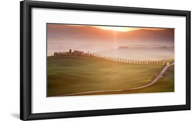 Morning in Val d'Orcia-Marcin Sobas-Framed Photographic Print