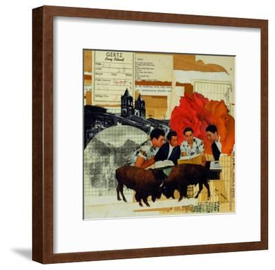 With Roses Spread-Molly Bosley-Framed Premium Giclee Print