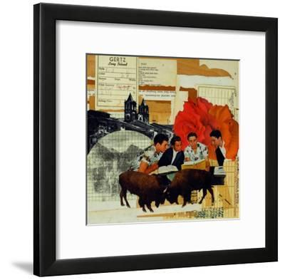 With Roses Spread-Molly Bosley-Framed Giclee Print
