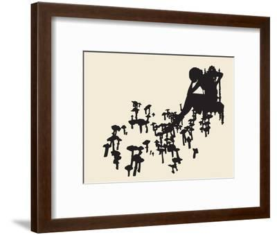 Placing Bets-Molly Bosley-Framed Premium Giclee Print