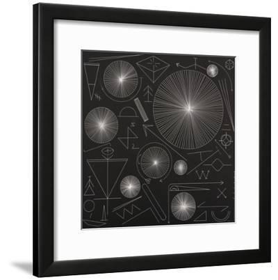 Night Symbols-Mark Warren Jacques-Framed Premium Giclee Print