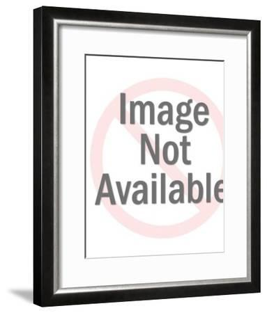 Close Up of Woman With Updo-Pop Ink - CSA Images-Framed Art Print