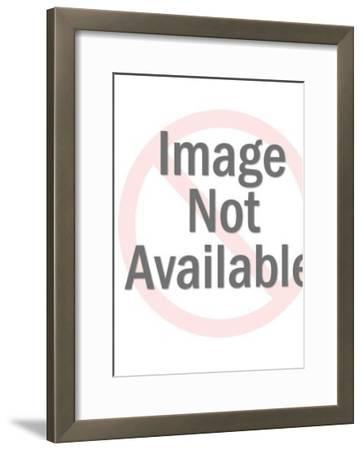 Man with knife through his head-Pop Ink - CSA Images-Framed Art Print
