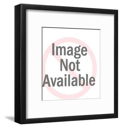 Woman with beach ball-Pop Ink - CSA Images-Framed Art Print