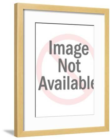 Woman with Floral Background-Pop Ink - CSA Images-Framed Art Print
