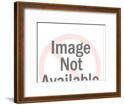 Cowboy on Rearing Horse-Pop Ink - CSA Images-Framed Art Print