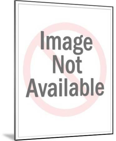 Man Sawing Wood-Pop Ink - CSA Images-Mounted Art Print