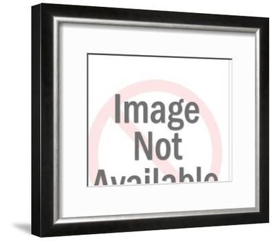 Woman Using Office Equipment-Pop Ink - CSA Images-Framed Art Print