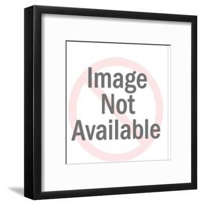 Man Standing in Front of Office Equipment-Pop Ink - CSA Images-Framed Art Print