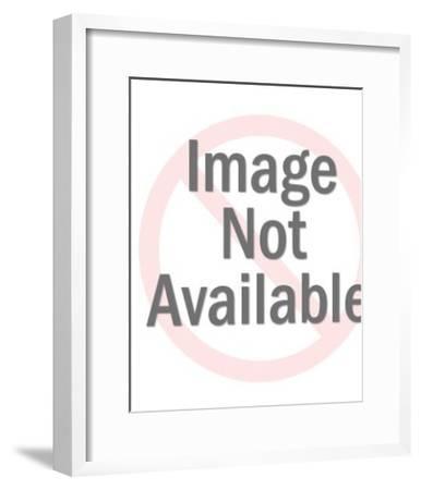 Woman and Bird-Pop Ink - CSA Images-Framed Art Print