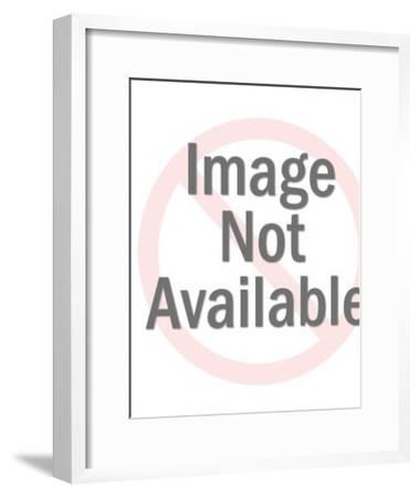 Two Men Playing Basketball-Pop Ink - CSA Images-Framed Art Print