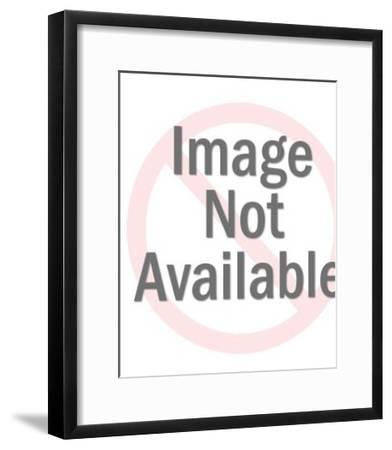 Man Smoking a Pipe-Pop Ink - CSA Images-Framed Art Print