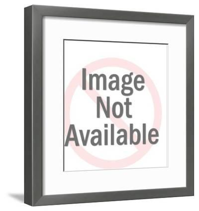 Side View of Woman in Grey Dress-Pop Ink - CSA Images-Framed Photo