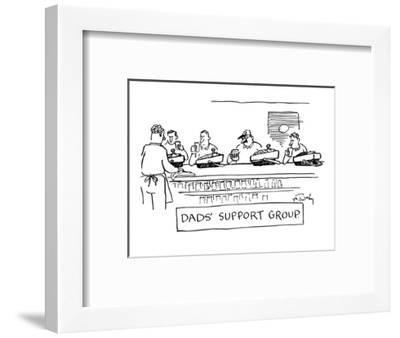 """""""Dad's Support Group"""" - New Yorker Cartoon-Mike Twohy-Framed Premium Giclee Print"""