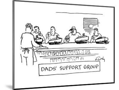 """""""Dad's Support Group"""" - New Yorker Cartoon-Mike Twohy-Mounted Premium Giclee Print"""