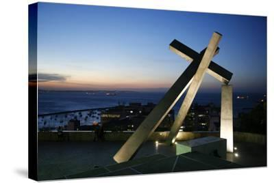 Largo da Cruz Quebrada (Fallen Cross), Pelourinho, Salvador (Salvador de Bahia), Bahia, Brazil-Yadid Levy-Stretched Canvas Print