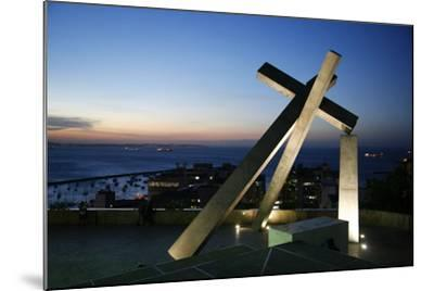 Largo da Cruz Quebrada (Fallen Cross), Pelourinho, Salvador (Salvador de Bahia), Bahia, Brazil-Yadid Levy-Mounted Photographic Print