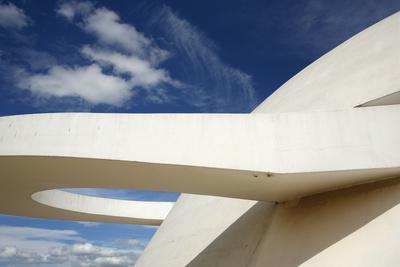 Museo Nacional (Nat'l Museum) Designed by Oscar Niemeyer, Brasilia, UNESCO Site, Brazil-Yadid Levy-Framed Photographic Print