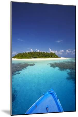 Boat Heading for Desert Island, Maldives, Indian Ocean, Asia-Sakis Papadopoulos-Mounted Photographic Print