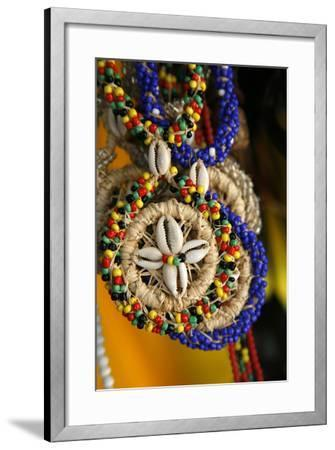 Candomble Wear Strings of Beads Made of Seeds and Shells, Cachoeira, Bahia, Brazil.-Yadid Levy-Framed Photographic Print