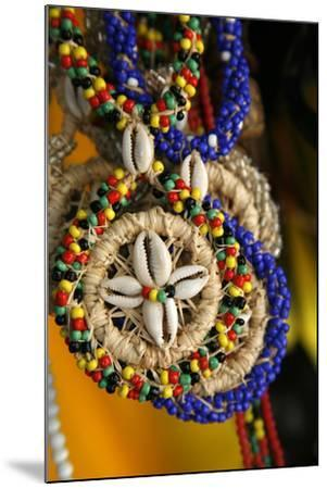Candomble Wear Strings of Beads Made of Seeds and Shells, Cachoeira, Bahia, Brazil.-Yadid Levy-Mounted Photographic Print