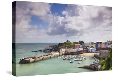 Tenby Harbour, Pembrokeshire, West Wales, Wales, United Kingdom, Europe-Billy Stock-Stretched Canvas Print