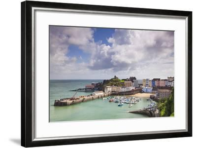 Tenby Harbour, Pembrokeshire, West Wales, Wales, United Kingdom, Europe-Billy Stock-Framed Photographic Print