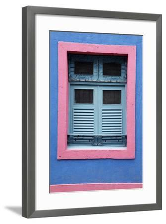 Detail of an Old Colonial House, Olinda, Pernambuco, Brazil, South America-Yadid Levy-Framed Photographic Print