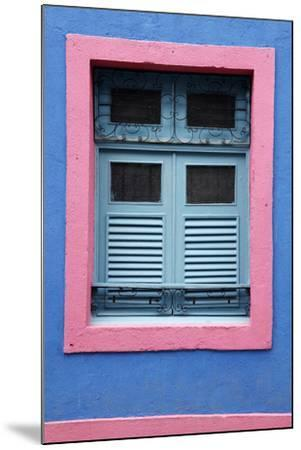 Detail of an Old Colonial House, Olinda, Pernambuco, Brazil, South America-Yadid Levy-Mounted Photographic Print