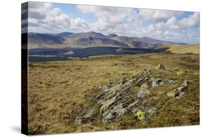 Galloway Hills from Rhinns of Kells, Dumfries and Galloway, Scotland, United Kingdom, Europe-Gary Cook-Stretched Canvas Print
