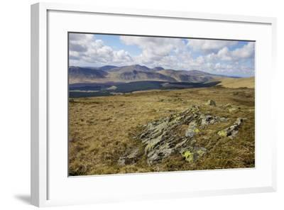 Galloway Hills from Rhinns of Kells, Dumfries and Galloway, Scotland, United Kingdom, Europe-Gary Cook-Framed Photographic Print