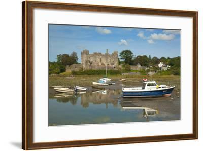 Laugharne Castle, Carmarthenshire, Wales, United Kingdom, Europe-Billy Stock-Framed Photographic Print