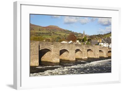 Bridge over River Usk, Crickhowell, Powys, Wales, United Kingdom, Europe-Billy Stock-Framed Photographic Print