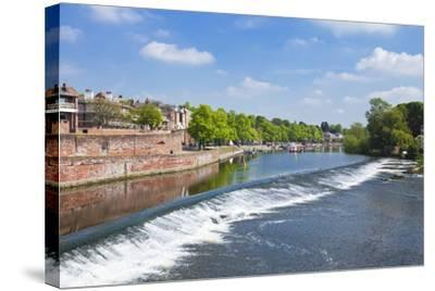 Chester Weir Crossing the River Dee at Chester, Cheshire, England, United Kingdom, Europe-Neale Clark-Stretched Canvas Print