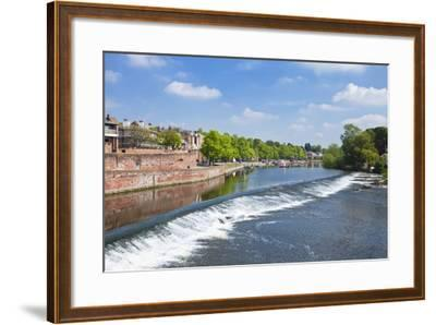 Chester Weir Crossing the River Dee at Chester, Cheshire, England, United Kingdom, Europe-Neale Clark-Framed Photographic Print