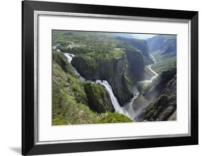 Voringfoss Waterfall, Near Eidfjord, Hordaland, Norway, Scandinavia, Europe-Gary Cook-Framed Photographic Print
