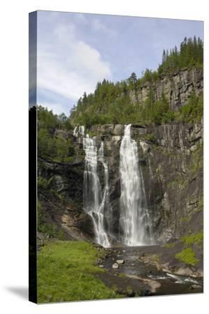 Skjervefossen Waterfall, Near Voss, Hordaland, Norway, Scandinavia, Europe-Gary Cook-Stretched Canvas Print