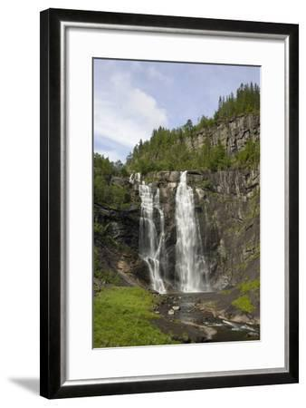 Skjervefossen Waterfall, Near Voss, Hordaland, Norway, Scandinavia, Europe-Gary Cook-Framed Photographic Print