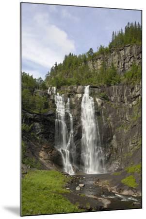 Skjervefossen Waterfall, Near Voss, Hordaland, Norway, Scandinavia, Europe-Gary Cook-Mounted Photographic Print